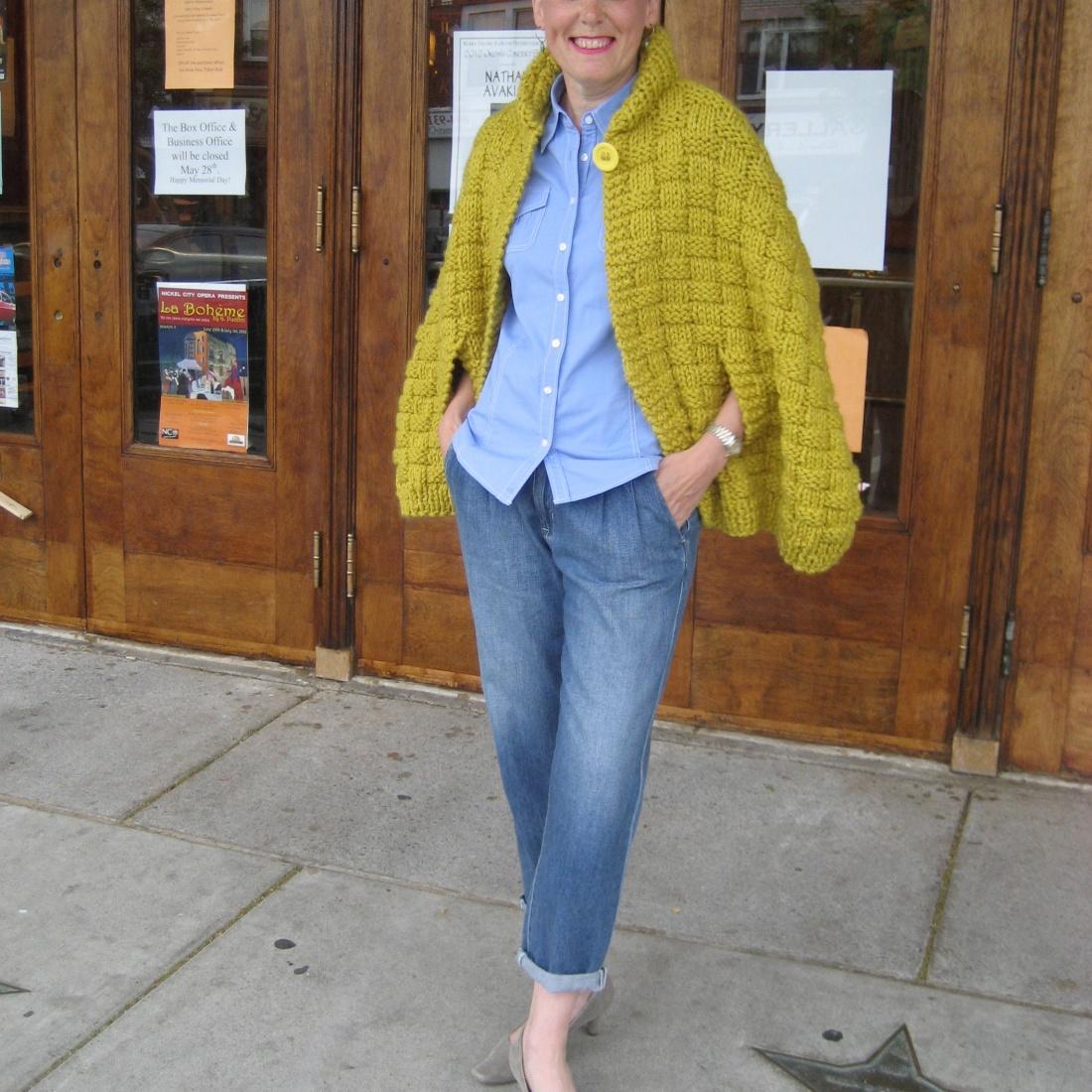 basket weave cape
