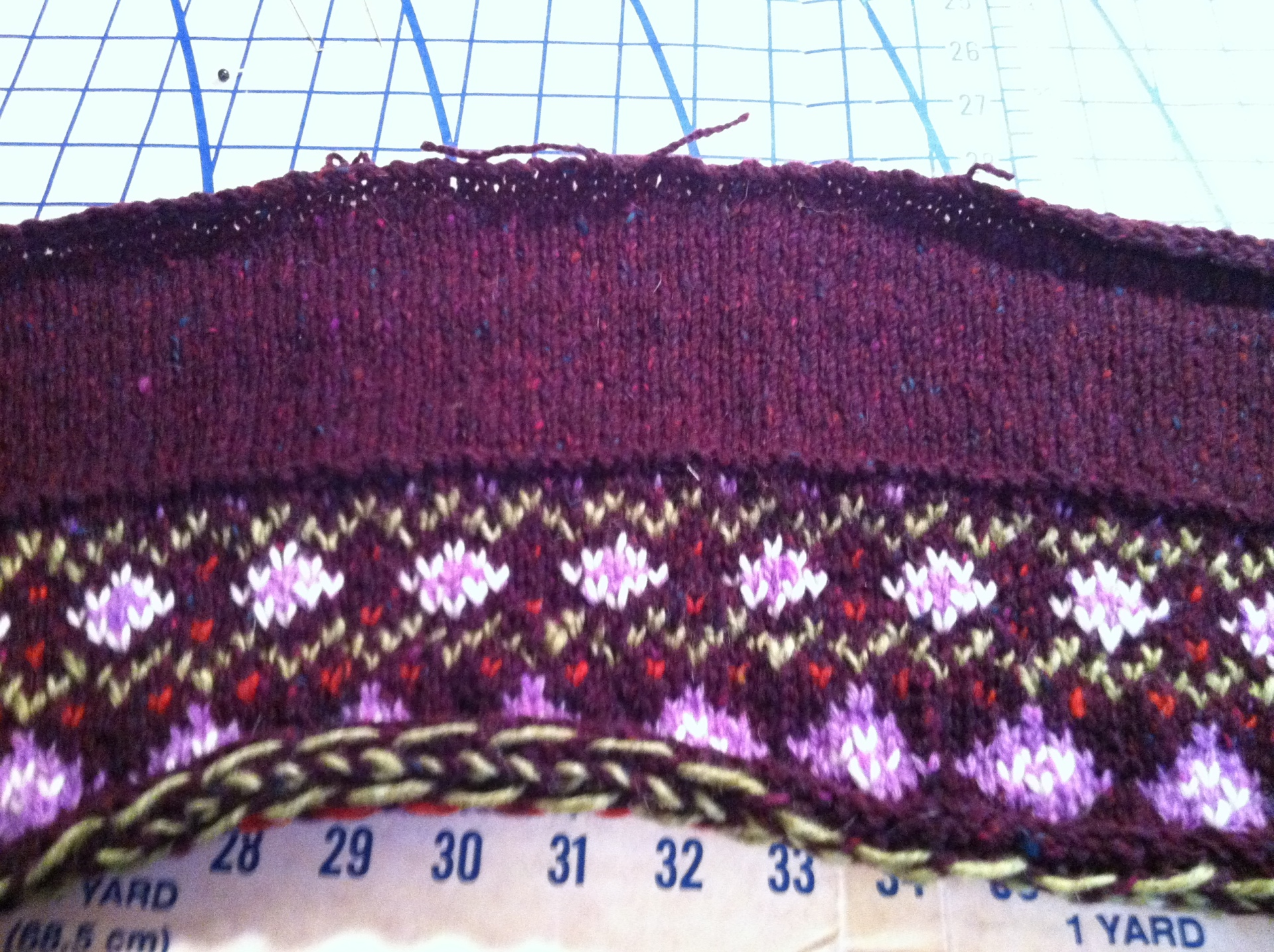 fair isle collar