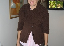 chocolate bobble cardi