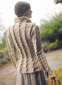 cabled tunic