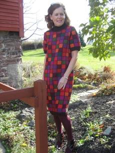 Color Block Mosaic Dress
