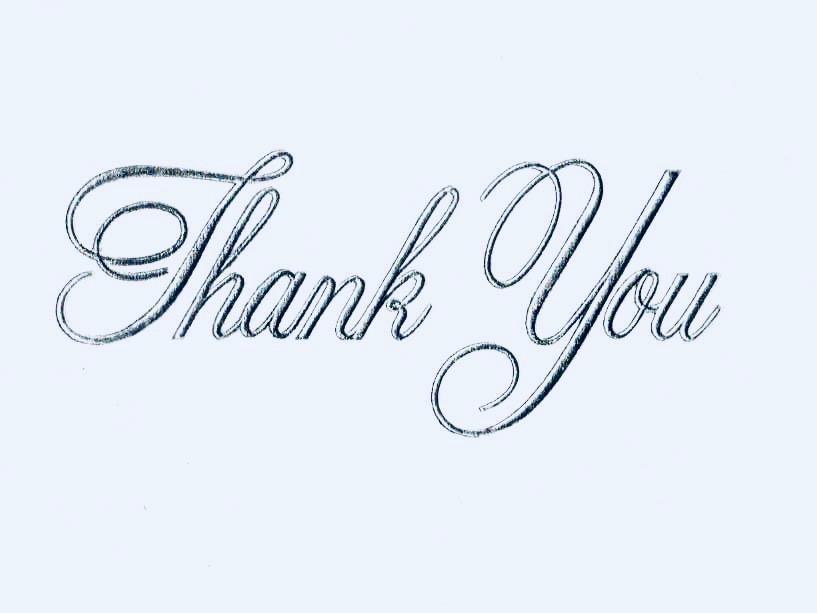 In Appreciation